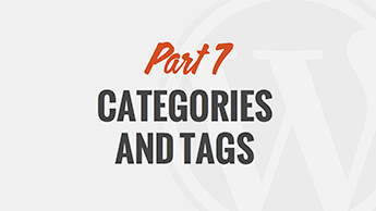 Using Categories and Tags