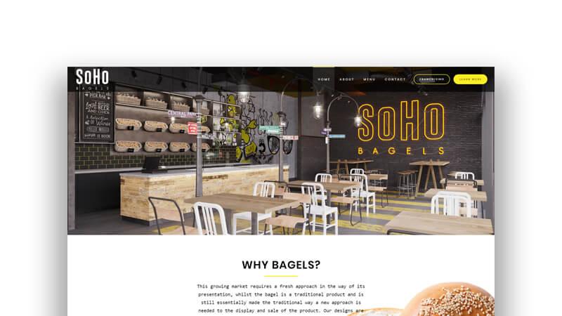 WordPress Wizards - Projects - SOHO Bagels