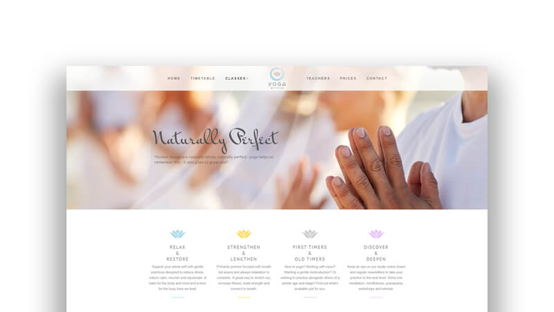 WordPress Wizards - Projects - Yoga Within